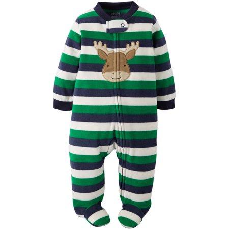 fd16cf9cb Carters - Carters Infant Boys Striped Baby Moose Fleece Pajama ...