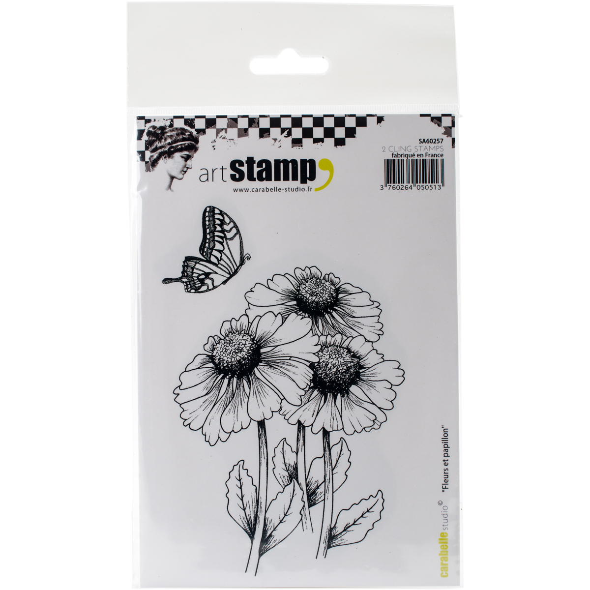 Carabelle Studio Cling Stamp A6-Flower & Butterfly