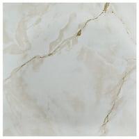 Achim Nexus Self Adhesive Vinyl Floor Tile - 12 x 12, 20 Tiles/20 Sq. Ft., Classic White with Grey Veins