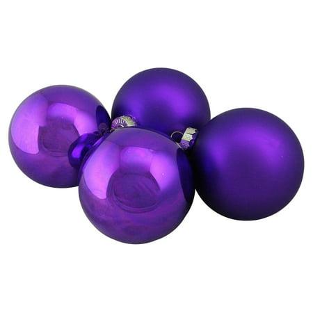 Northlight Glass Ball Christmas Ornament - Set of 4 ()