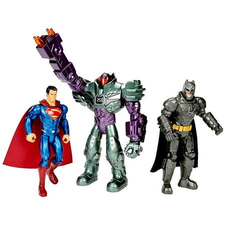 Toy Collectibles Mattel DC Comics Batman V Superman Dawn of Justice Batman Superman and Lex Luthor Action Figures (3pc Set) ()