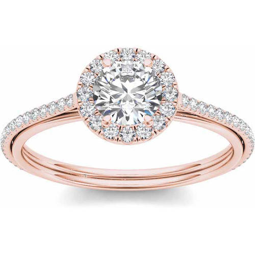 Imperial 1 Carat T.W. Diamond Single Halo 14kt Rose Gold Engagement Ring by Imperial Jewels