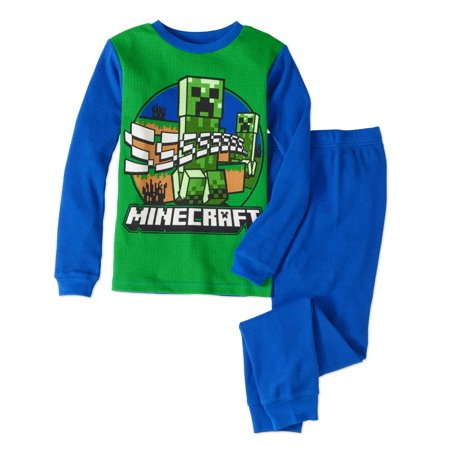 Minecraft Boys' Cotton 2pc Thermal Underwear Set