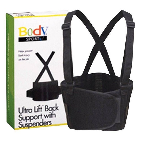 "Ultra Lift Back Support with Suspenders Extra-Large (40"" - 55"" Waist) 6 Boxes MS-87427"