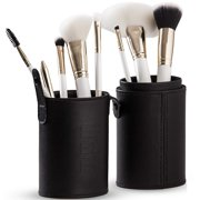 Professional Makeup Brush Set – 8 Ultra-Soft, Synthetic Cosmetic Brushes and Travel Case / Holder – Makeup Brushes for Face, Eye, Brow, and Complexion