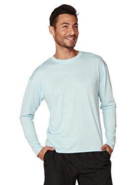 Ingear Mens Swim Shirt UPF Mens sun shirts Mens Long Sleeve Rash Guard (Light Blue, Large)
