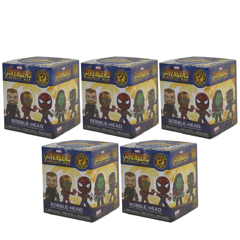 Funko Mystery Minis Vinyl Figures Avengers Infinity War BLIND BOXES (5 Pack Lot) by Funko