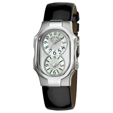 Philip Stein  Women's 'Signature' Shiny Black Leather Strap Watch ()