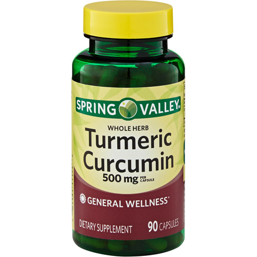 Spring Valley Turmeric Curcumin Herbal Supplement Capsules, 500 mg, 90 count