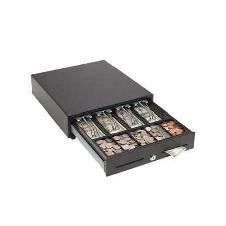 MMF POS VAL-u Line RJ12 Cash Drawer (13Wx13D) w/ 2 Slots - Black
