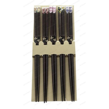 M.V. Trading 900291 Japanese Chopsticks Gift Set With Many Variety Designs, 5 -