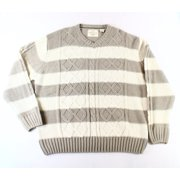 Weatherproof NEW Beige Mens Size 2XL V-Neck Cable Knit Pullover Sweater