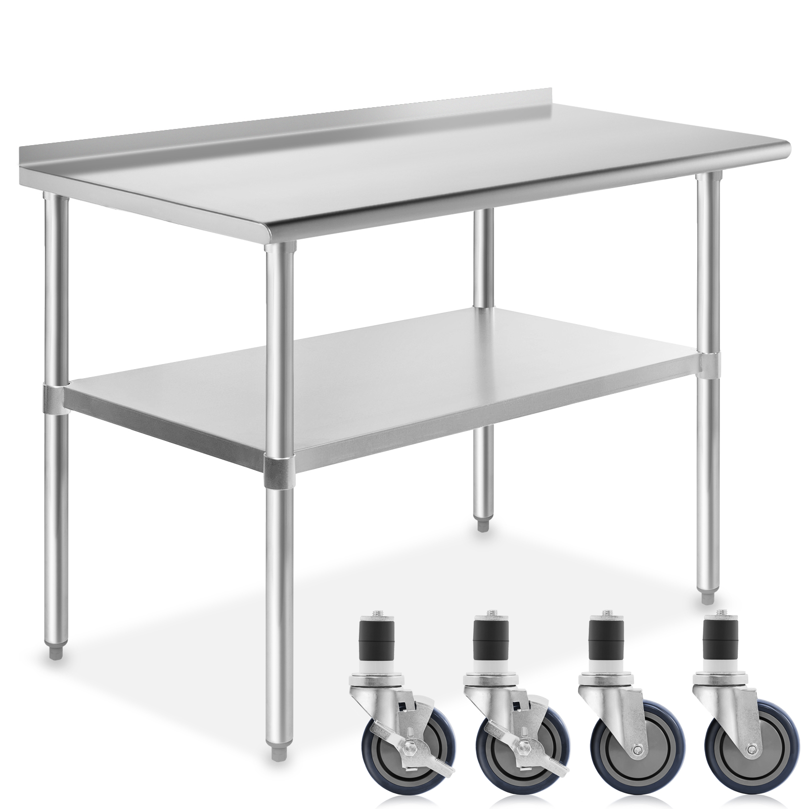 """Details about  /Gridmann 4/"""" Caster Wheel Set For Commercial Stainless Kitchen Prep Work Tables"""