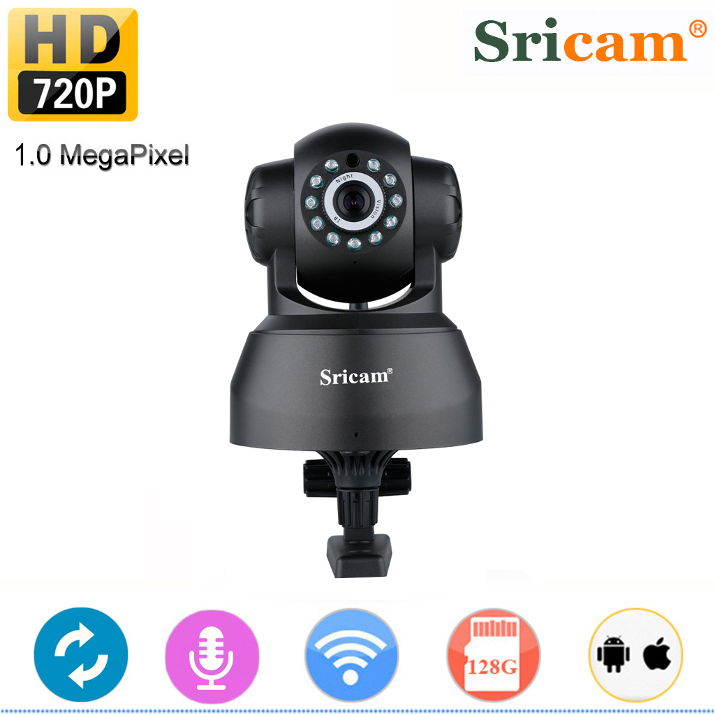 Wireless 720P IP Camera, Sricam WiFi Home Security Surveillance HD IP Camera for Pet Baby Monitor, Pan/Tilt, Two-Way Audio Night Vision Motion Detection Indoor Camera