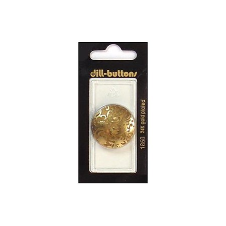 Dill Buttons 28mm 1pc 2 Hole Antique Gold