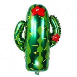 Fancyleo Cactus Shaped Aluminum Balloons Festival Party Decoration Decorative Balloons (Cactus Pinata)