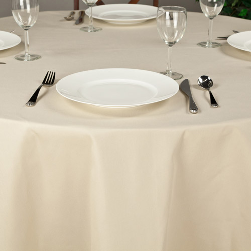 "Riegel Premier Hotel Quality Tablecloth, 132"" Round"