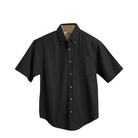 Tri-Mountain Gold Valor 788 Short Sleeve Peached Twill Shirt, 2X-Large, Black/Camel - Peachy Boys