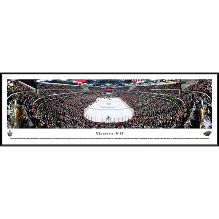 Minnesota Wild   End Zone View At Xcel Energy Center   Blakeway Panoramas Nhl Print With Standard Frame