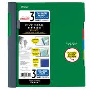 Five Star Advance 3 Subject Notebook, Green