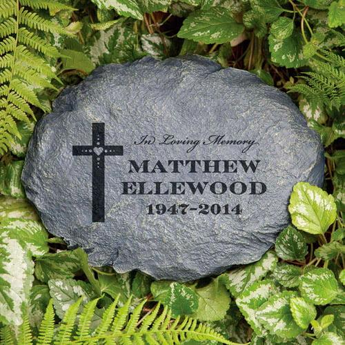 Personalized In Loving Memory Garden Stone