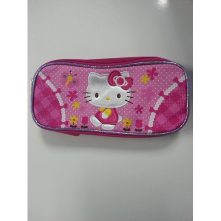 Pencil Case - Hello Kitty - Garden (Double Zippered Pouch) New Stationery 630515