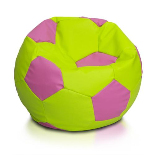 Large Multi-color Soccer Ball Bean Bag Chair Yellow, Red and Black