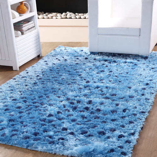 Affinity Linens Hand-Woven Blue Indoor Area Rug