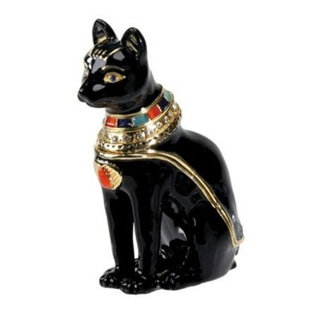 Bastet Jeweled Box - Collectible Egyptian Decoration Jewelry Container Shaped Jeweled Box