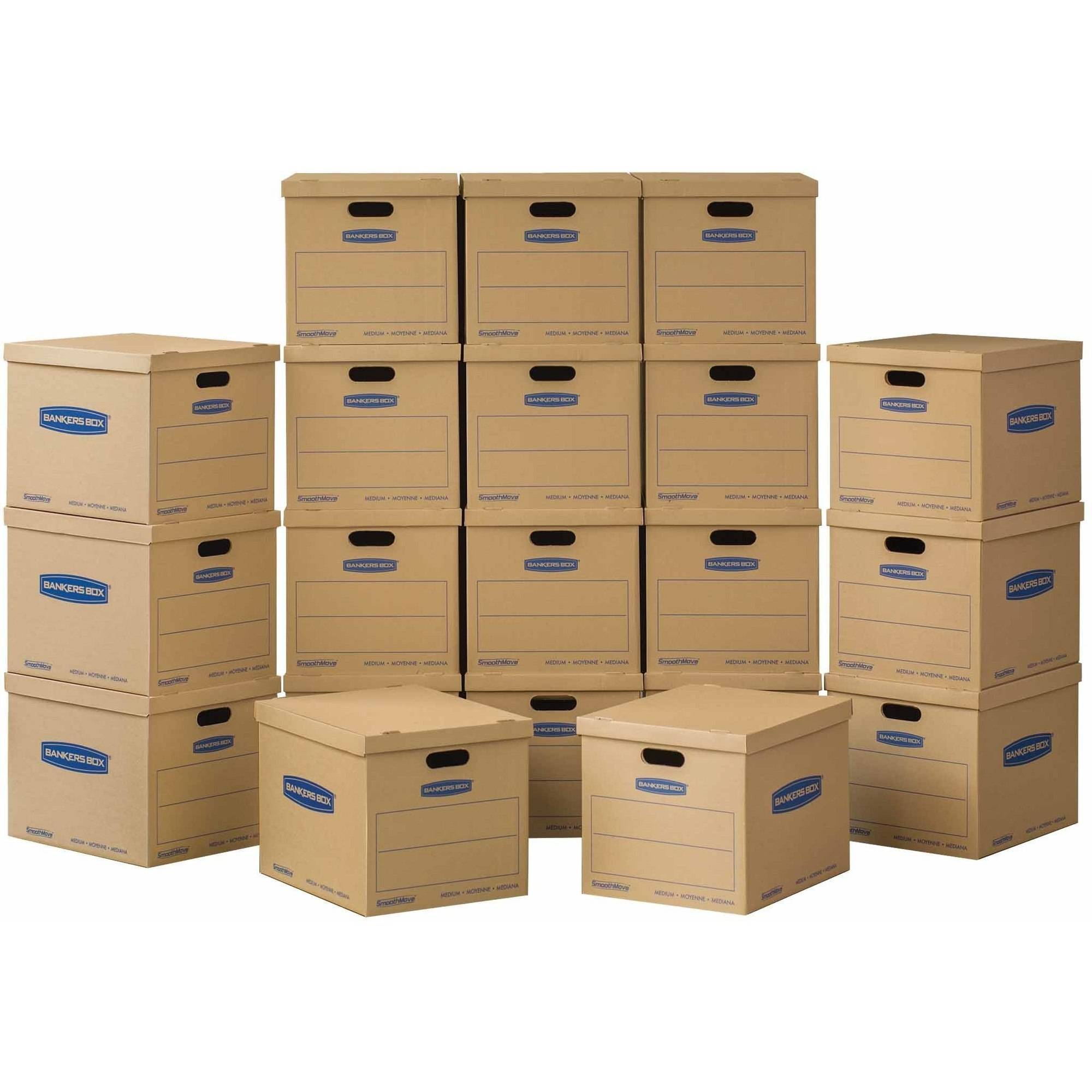 Bankers Box SmoothMove Classic Moving Boxes Medium 20pk (No Tape Required)