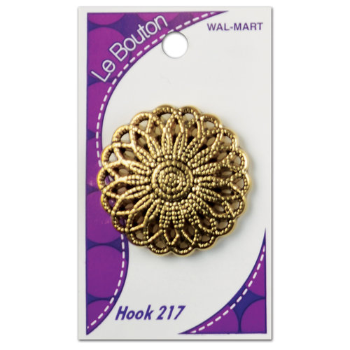 Le Bouton Antique Gold Shank Button