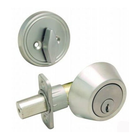 Single Cylinder Deadbolt Lock - Satin - Bolt Lock