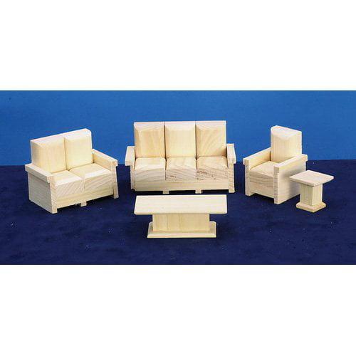 Town Square Miniatures Five Room Furniture Set