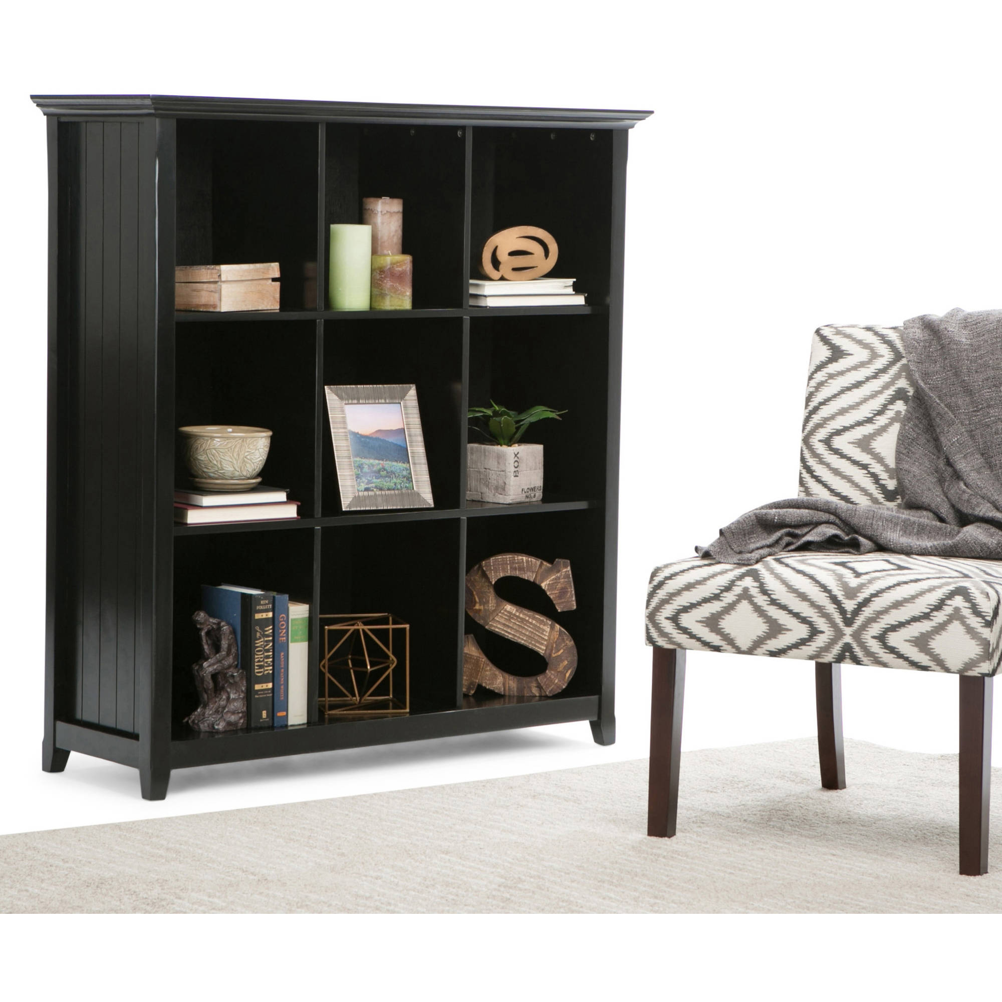 Brooklyn + Max Brunswick Collection Black 9-Cube Bookcase and Storage Unit