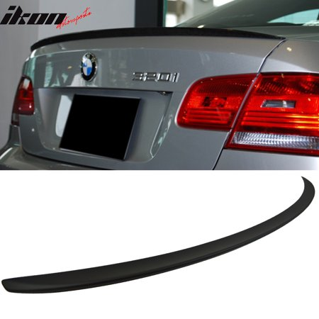 Fits 07 13 Bmw E92 3 Series Coupe M3 Style Trunk Spoiler Wing Matte Black Abs