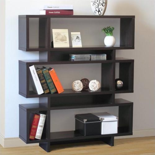 Jeco Santiago 3 Tier Bookcase in Brown