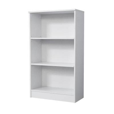 3-Shelf Standard Bookcase in White, 3-shelves (2-adjustable) for custom storage By Hampton Bay by
