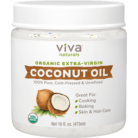 Viva Naturals Organic Extra Virgin Coconut Oil 16 fl (Best Way To Add Coconut Oil To Diet)