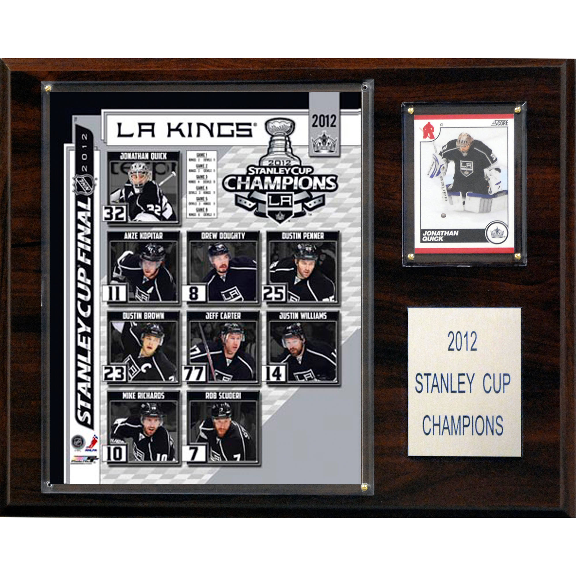 C&I Collectables NHL 12x15 Los Angeles Kings 2012 Stanley Cup Champions Plaque