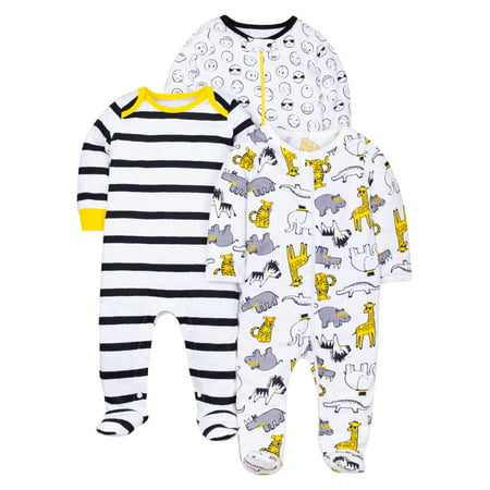 100% Organic Cotton Sleep 'N Play Pajamas, 3-pack (Baby Boys) - Halloween Pajamas For Toddlers