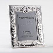 Bey-Berk Silver-Plated Wedding Bells 5 x 7 in. Photo Frame - Tarnish Proof