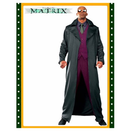 Matrix Morpheus Adult's Large Costume With Trench Coat (Greaser Jacket Costume)