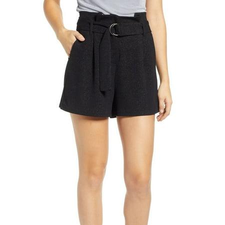 Womens Small Paper Bag High Waist Dress Shorts S