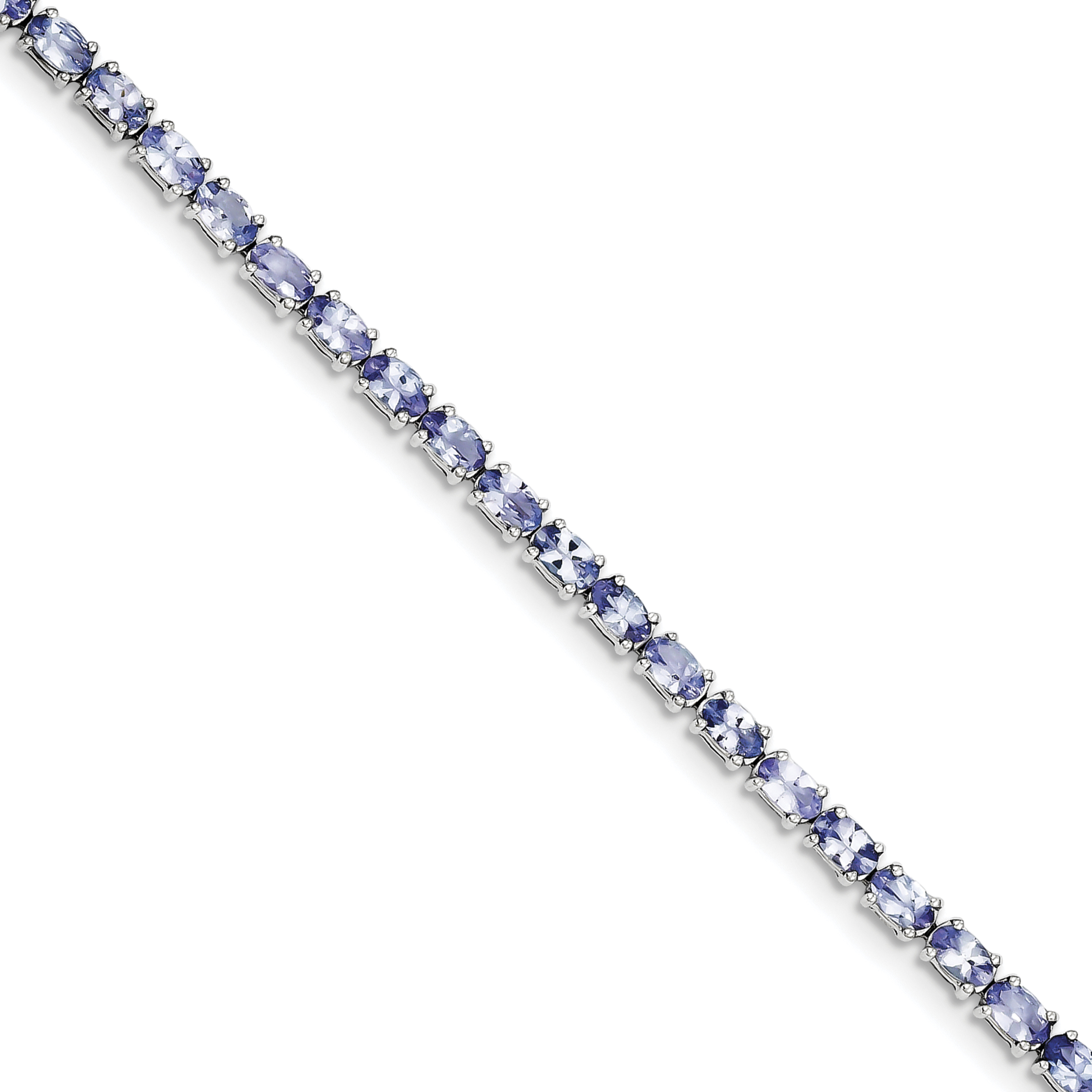 Sterling Silver Rhodium-plated Tanzanite Bracelet QX865TZ by Mother's Day
