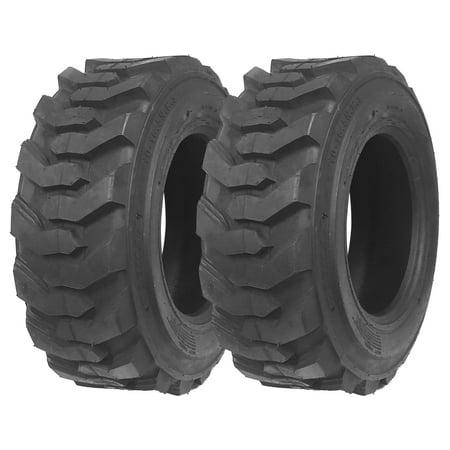Set of 2 New ZEEMAX Heavy Duty 10-16.5/10PR Skid Steer Tires for Bobcat w/ Rim Guard