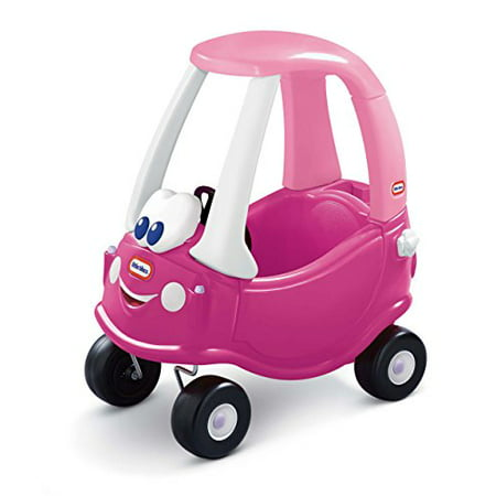 Cozy Coupe Ride On with Removable Floor and Handle on Back Pink and Purple Princess Cozy Coupe