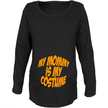 Halloween Mommy Baby Costume Black Maternity Soft Long Sleeve T-Shirt