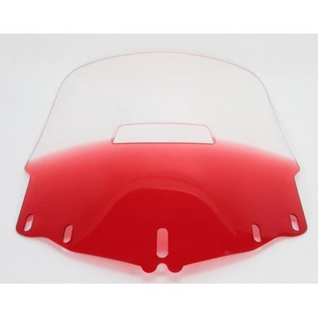 Memphis Shades MEP4872 Gold Wing Windshield - Standard with Vent Hole - Gradient Ruby ()