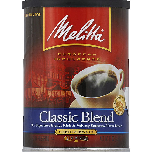 Melitta Classic Blend Medium Roast Ground Coffee, 11 oz, (Pack of 12)