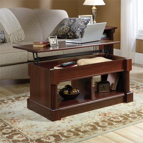 Sauder Palladia Lift Top Coffee Table In Cherry